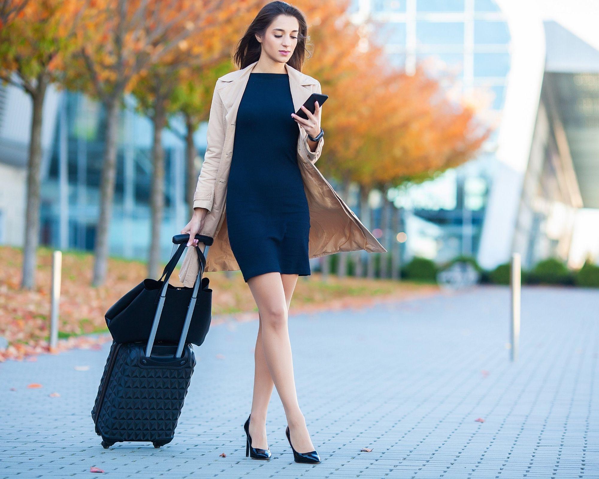 Opzioni di abbigliamento per l'aeroporto